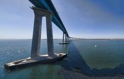 科罗纳多全景海湾的桥梁 库存图片