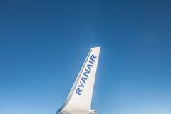 科芙,爱尔兰- 2012年11月20日:从飞机的看法 免版税库存图片