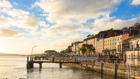 科芙,爱尔兰- 11月26 :2012年11月26日的老力大无比的码头在科芙爱尔兰 库存照片