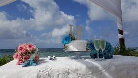 科苏梅尔海滩婚礼 图库摄影