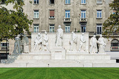 科苏特・拉约什纪念品在布达佩斯,匈牙利 免版税库存照片