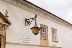 科英布拉大学,在1290年建立 图库摄影