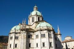 科莫中央寺院二科莫大教堂  Como,意大利 图库摄影