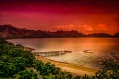 科莫多岛海岛 图库摄影