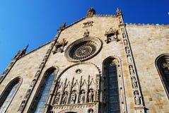 科莫湖大教堂,意大利外视图  免版税图库摄影