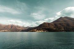 科莫湖意大利Lombardia 免版税图库摄影