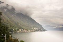 科莫湖瓦伦纳,意大利 库存照片