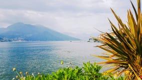 科莫湖的,伦巴第,意大利贝拉焦 库存照片