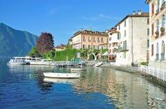 科莫湖的,意大利伦诺 免版税图库摄影