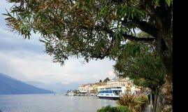 科莫湖的,米兰,意大利贝拉焦 免版税库存图片