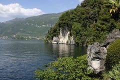 科莫湖看法  免版税图库摄影