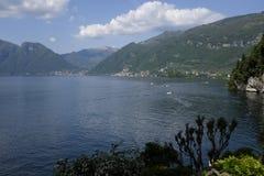 科莫湖,全景 免版税库存图片