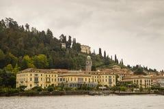 从科莫湖,意大利的贝拉焦 库存图片