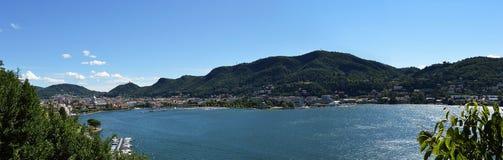 科莫湖,意大利,欧洲看法  库存照片