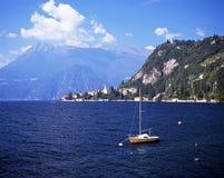 科莫湖, Varena,意大利。 库存图片