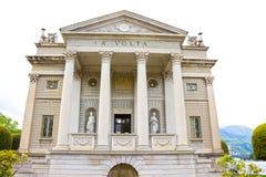 科莫,意大利- 2017年5月03日:科莫博物馆叫伏打寺庙和致力的科学家亚历山德罗・伏特 库存照片