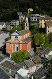 科西嘉岛村庄-法国 库存照片
