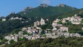 科西嘉岛村庄-法国 免版税库存照片