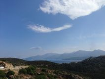 科西嘉岛横向 库存照片