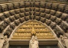 科隆大教堂入口门户 免版税库存照片