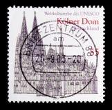 科隆大教堂,联合国科教文组织世界遗产名录选址serie,大约2003年 库存图片