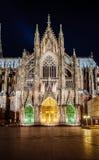 科隆大教堂dacade和所有它的辉煌 免版税库存图片