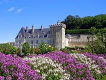 科隆比耶尔城堡庭院在卢瓦尔河,法国 图库摄影
