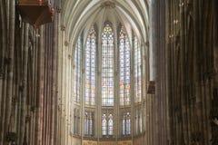 科隆香水dom哥特式教堂中殿 免版税库存图片