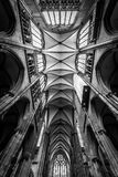 科隆香水大教堂屋顶有所有主要archs的 库存照片