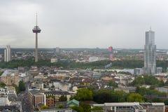 科隆鸟瞰图从科隆大教堂的观点 库存照片