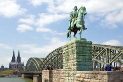 科隆,大教堂,桥梁 免版税库存图片