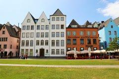 科隆,德国- 2018年5月31日:五颜六色的房子在老城科隆,德国 免版税库存图片