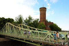 科隆,德国- 2018年5月31日:Drehbrucke桥梁美丽的景色在科隆,德国 库存照片