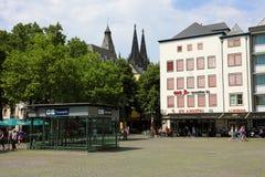 科隆,德国- 2018年5月31日:Heumarkt广场在科隆,德国 免版税图库摄影