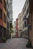 科隆,德国- 2016年9月17日:Salzgasse街道看法在科隆市的中心 库存图片