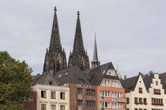 科隆,意大利- 2016年9月11日:天主教哥特式大教堂Kolner Dom的看法,世界遗产名录 免版税库存图片