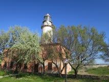 科马基奥意大利Po三角洲伊米莉亚罗马甘谷的灯塔  库存图片