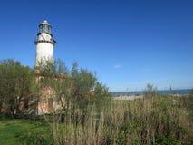 科马基奥意大利Po三角洲伊米莉亚罗马甘谷的灯塔  免版税库存照片