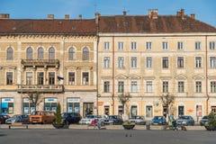科鲁Napoca市的老中心 免版税库存照片