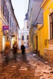 科鲁napoca罗马尼亚 都市风景、buldings和细节 免版税库存图片