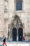 科鲁napoca罗马尼亚 都市风景、buldings和细节 免版税库存照片