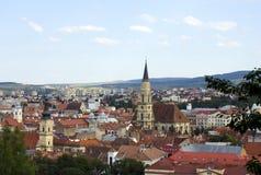 科鲁Napoca,罗马尼亚全景  免版税库存照片