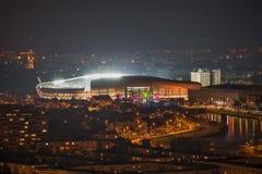科鲁NAPOCA,罗马尼亚- 2月27 :罗马尼亚-西班牙,友好的比赛 库存图片