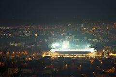 科鲁NAPOCA,罗马尼亚- 2月27 :罗马尼亚-西班牙,友好的比赛 免版税库存图片