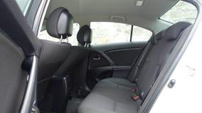 科鲁Napoca/罗马尼亚- 2017年5月09日:丰田Avensis-年2010年,充分的选择设备,照相讲席会,后坐的乘客位子 免版税图库摄影