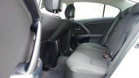 科鲁Napoca/罗马尼亚- 2017年5月09日:丰田Avensis-年2010年,充分的选择设备,照相讲席会,后座 免版税图库摄影