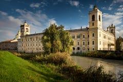 科洛尔诺,意大利- 2016年11月06日-科洛尔诺王宫  库存图片