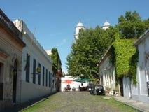科洛尼亚省街道。 免版税库存照片