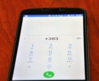 科索沃得到国际电话代码 免版税库存图片