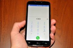 科索沃得到国际电话代码 图库摄影